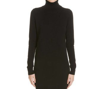 THEORY Cashmere Turtleneck Sweater Dress In Black